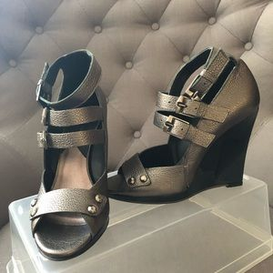 7 for All Mankind Leather wedges